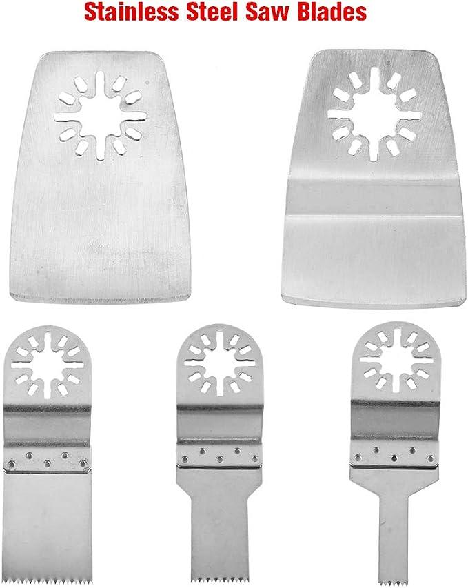 Hojas de sierra oscilante Fydun herramienta multifunci/ón de segmento oscilante de 3 piezas Hoja de sierra de carburo para pulido Cemento Grano Rectificado y eliminaci/ón