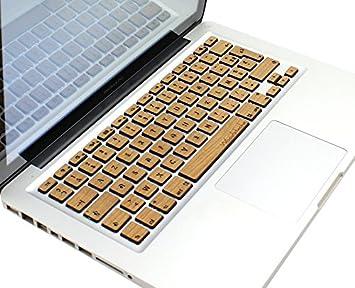 Woodstache - Clavier AZERTY Franç ais pour MacBook 13''/15'' Merisier CMARMERI