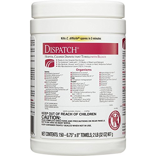 Cleaner Dispatch - DISPATCH Disinfectant Wipes - Towels in Round Canister, 7