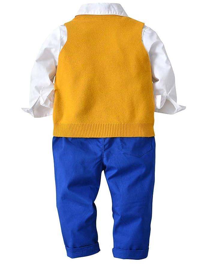 ARAUS Niños Conjuntos Camisa + Corbata + Chaleco de Punto + ...