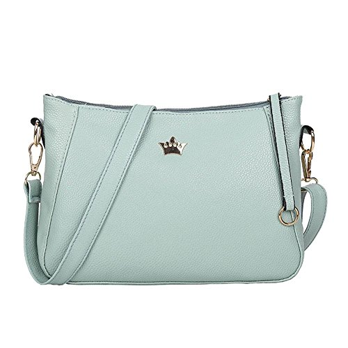 Widewing Vintage Small Women Crossbody Purse PU Leather Shoulder Messenger Handbags Green,