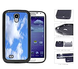 Prairie Scenery Cloud Patches In Blue Sky 2-Piece Dual Layer High Impact Rubber Silicone Cell Phone Case Samsung Galaxy S4 SIV I9500