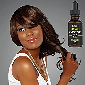 Organic Castor Oil - For Hair, Eyelashes, and Eyebrows Growth 1 oz 30ml
