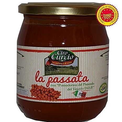 SALSA DE TOMATES Piennolo del Vesubio DOP ML580 - Ciro Curcio: Amazon.es: Alimentación y bebidas