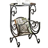 Indoor Multi-Function Accent Table Study Computer Home Office Desk Bedroom Living Room Modern Style End Table Sofa Side Table Coffee Table Metal glass side tables
