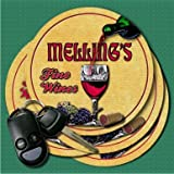 MELLING'S Fine Wines Coasters - Set of 4