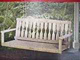 Cypress 4 Ft Wood Porch Swing Unfinished with Chains