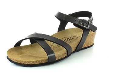 Papillio Women's Alyssa Birko-Flor Fashion Sandals, Black Synthetic, 36 N  EU,