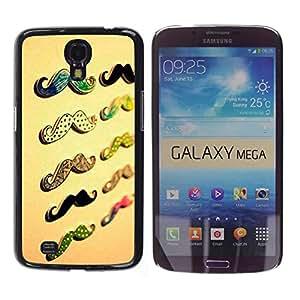 MOBMART Carcasa Funda Case Cover Armor Shell PARA Samsung Galaxy Mega 6.3 - Colors Of Mr. Mustache