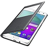 Sun Tigers Samsung Z2 Tizen Window Flip Cover (Black)+ Tempered Flexible Curved Glass