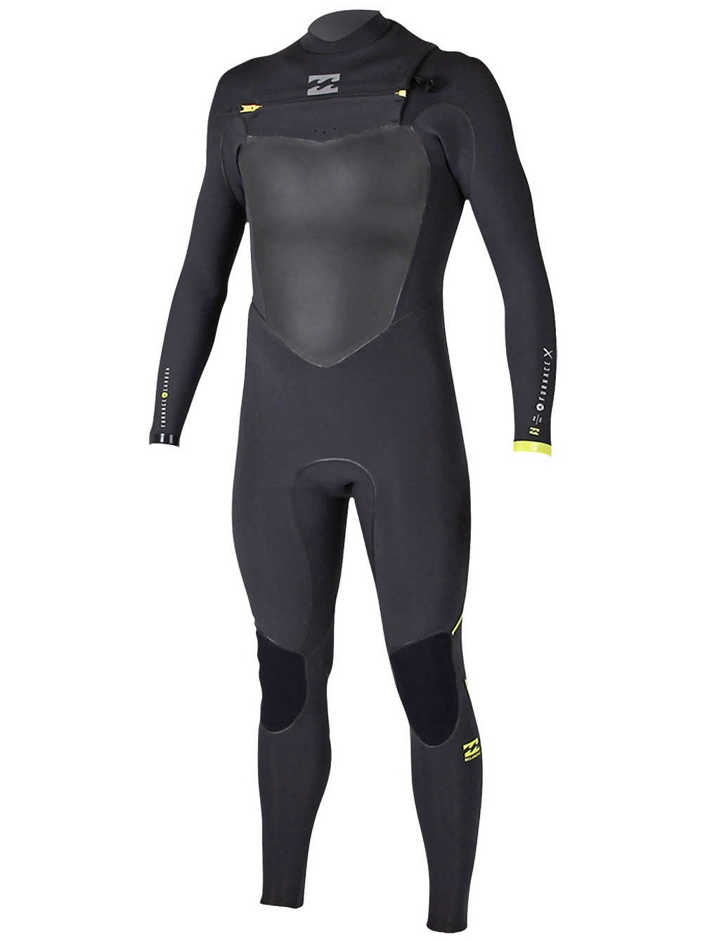 BILLABONG 2016 Furnace X 4 3mm Chest Zip Steamer Wetsuit schwarz Z44M02