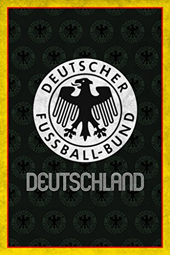 Germany Soccer Retro National Team Sports Poster 12x18