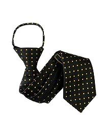 Black - Orange Boys 11 inch Zipper Necktie