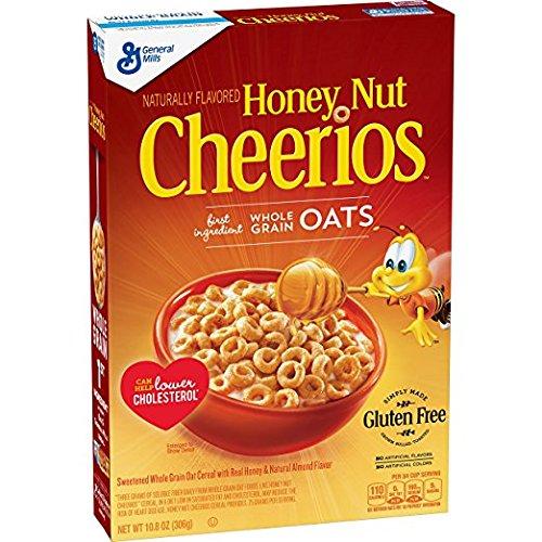Honey Nut Cheerios 10.8 Oz, Gluten Free, Breakfast Cereal (pack of 2) by Cheerios