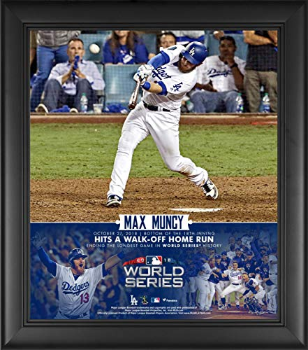 Collage Run Home - Max Muncy Los Angeles Dodgers Framed 15