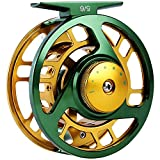 Sougayilang Fly Fishing Reel Large Arbor Right Left-Handed 2+1 BB with CNC-Machined Aluminum