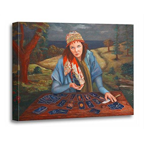 TORASS Canvas Wall Art Print Spiritual Gypsy Fortune Teller Astrology Gypsies Mystic Fine Artwork for Home Decor 16