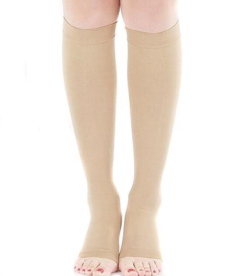 TININNA Medias de compresión de la Mujer Flexible Suave elástico Toeless compresión del calcetín de la