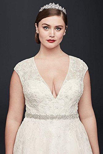Oleg Cassini Plus Size Ball Gown Wedding Dress Style 8CWG748