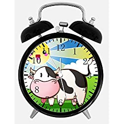 Moo Cow Alarm Desk Clock 3.75 Home or Office Decor Y56 Nice For Gift
