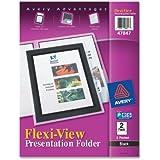 Avery Flexi-View Two-Pocket Polypropylene Folder, Translucent Black, Two per Pack (47847)