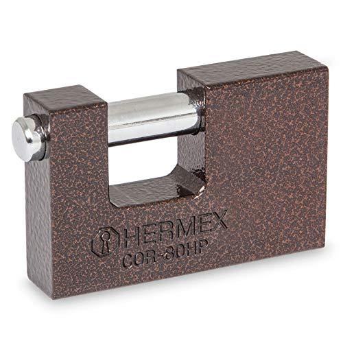 Hermex COR-80HP, Candado Antipalanca, 80 mm