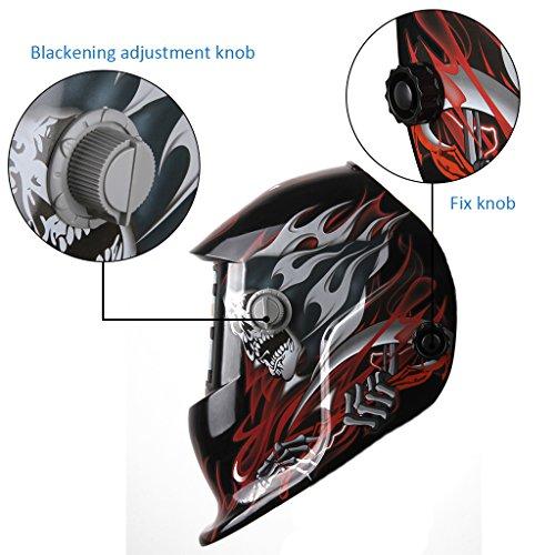 Casco Soldadura Fotosensible (ADF, 93x43mm Incrustaciones filtro LCD, Más Ligero, Protección Los Ojos), Demonio: Amazon.es: Bricolaje y herramientas