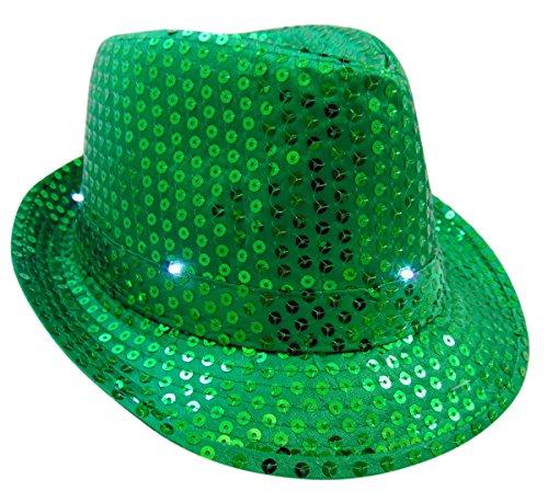 St Patrick's Day Light Up Flashing Fedora Hat Irish Paddy's Day Fancy Cap ()