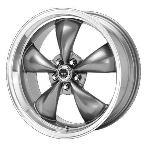 - American Racing Custom Wheels AR105 Torq Thrust M Anthracite Wheel With Machined Lip (17x8