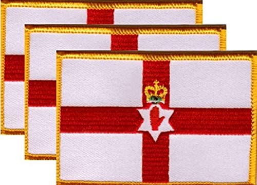 Pack of 3 Country Flag Patches 3.50