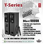 T-Series Blast-9999X Multimedia 60 W Bluetooth Tower Speakers System (Black)