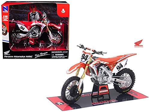 NewRay 57923 DIE-CAST Replica Toy 1: 12 Scale Model Ken Roczen Team Honda HRC Dirt Bike for Orange Cycle Parts ()