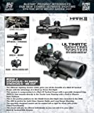 NcStar STP3942G Combo 3-9x42 P4 SNIPER Scope Plus Micro Green Dot DGAB Plus Adapter Mount MRD34