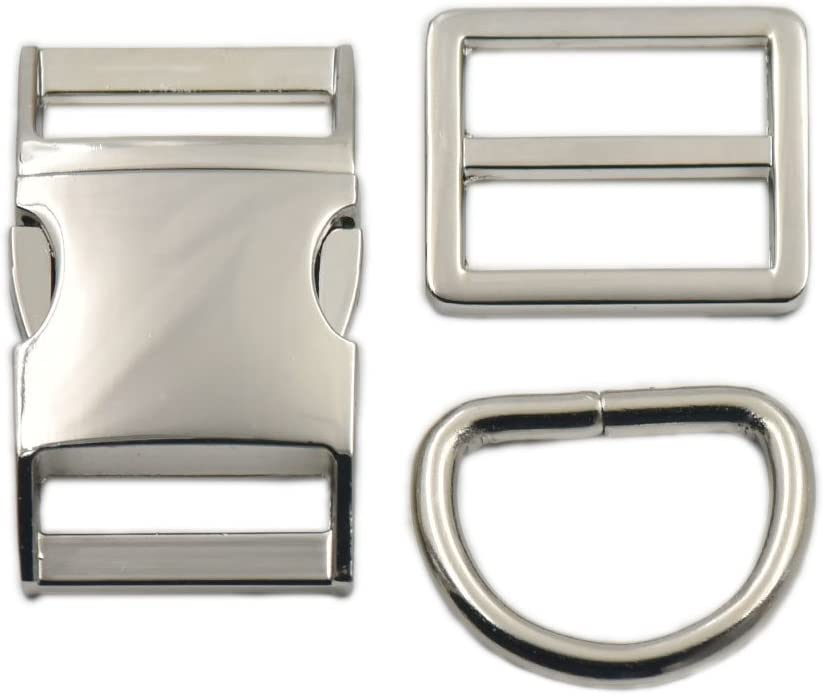 6x 1 inch G Hook Webbing Buckle for Backpack Strap Webbing Alloy 25mm Silver