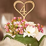 Yeefant Wooden Wedding Table Numbers 1-10 Flower