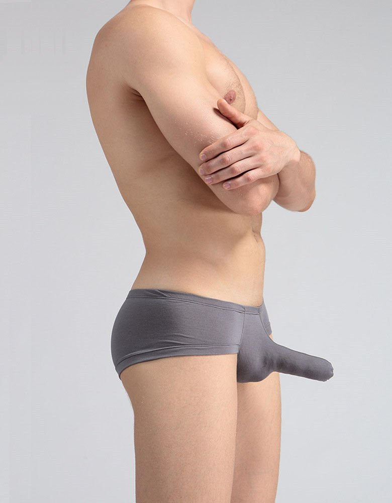 Low - Waisted Underwear, M, Gray SJMM