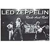 Led Zeppelin Rock and Roll Music Poster Poster Print, 36x24
