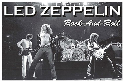 Led Zeppelin Rock and Roll Music Poster 36 x 24in