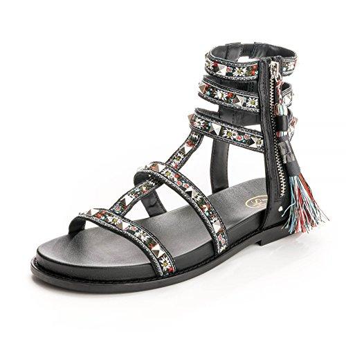 Ash Schoenen Wonder Sandalen Zwart Van Leer Zwarte Vrouwen