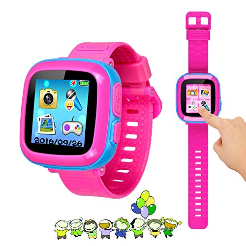 "Kids Game Watch Smart Watch For Kids Children's Birthday Gift With 1.5 "" Touch Screen And 10 Games, Children's Watch Pedometer Clock Smart Watch Kids Toys Boys Girls gift.(joint pink) by KKLE"
