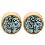 wood plugs 3 4 - PiercingJ 2pcs 0G-3/4