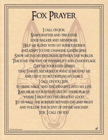 Fox Prayer poster ()
