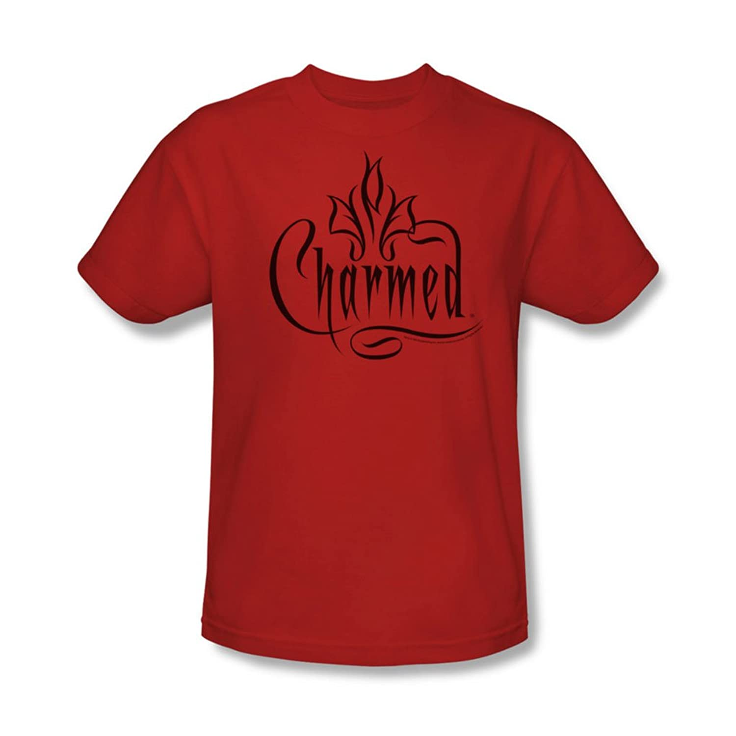 Cbs - Charmed / Charmed Logo Adult T-Shirt In Red
