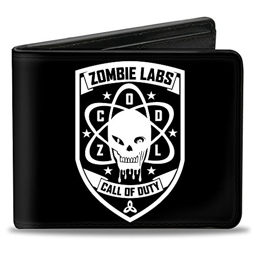 Price comparison product image Buckle-Down PU Bifold Wallet - CALL OF DUTY-ZOMBIE LABS Badge Black / White