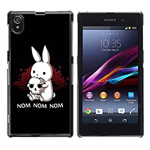 Impact Case Cover with Art Pattern Designs FOR Sony Xperia Z1 L39 Rabbit Horror Skull Pirate Art Quote Nom Nom Betty shop