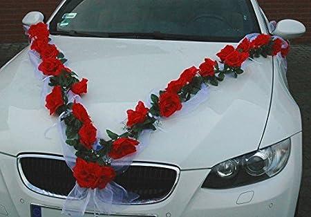 Autoschmuck rose garland wedding car decoration bridal car autoschmuck rose garland wedding car decoration bridal car accessory redwhite junglespirit Choice Image