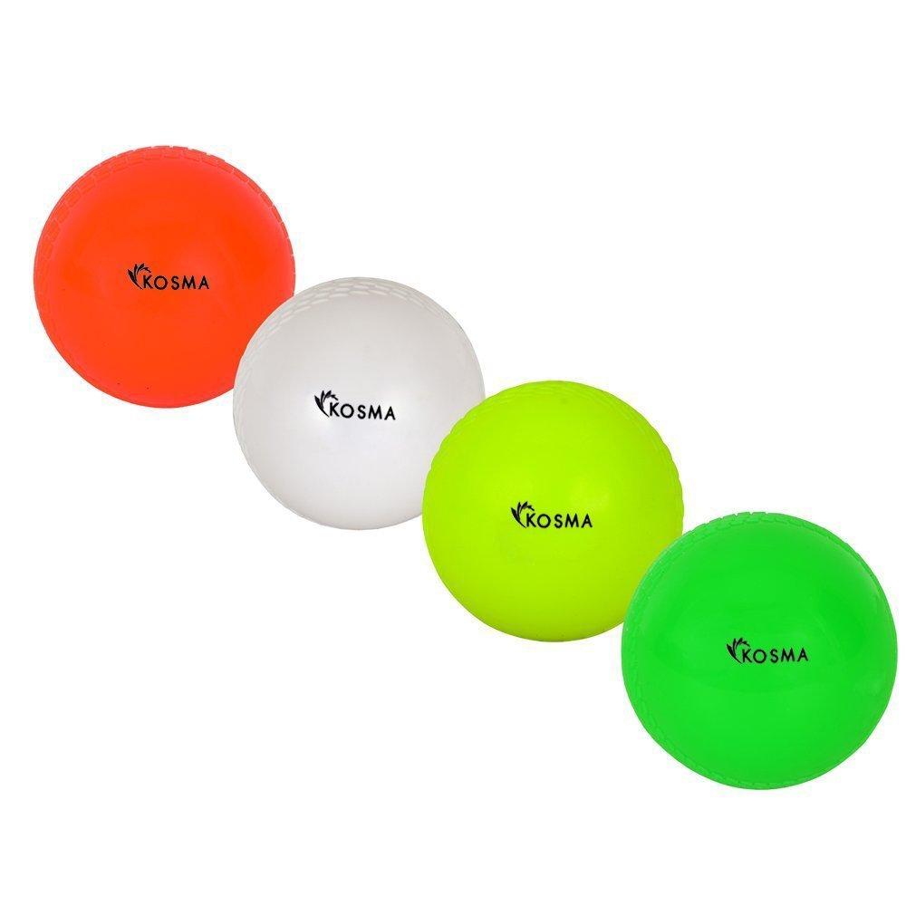 Kosma Set of 4PC Wind Ball–Orange, Weiß, flourcent gelb, grün Weiß Grün Montstar Global KG-21895