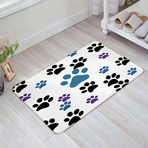 CHARMHOME Dog Paw Prints Doormat Bathroom Rug Kitchen Door Mats 23.6(L) x 15.7(W) (Rug Paw Print)