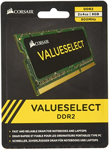 Notebook Memory 6400 (Corsair 8GB (2x4GB)  DDR2 800 MHz (PC2 6400) Laptop Memory)