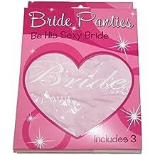 Katie K. Active Women's Bride Hipster Lingerie 3-Pack Bridal Shower Bachelorette Wedding Gift - Also In Plus Sizes